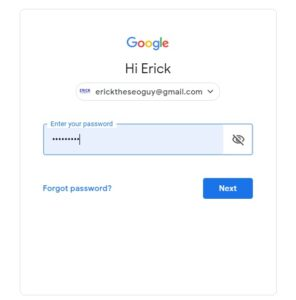 Step 2. Login with Your Gmail Email Address