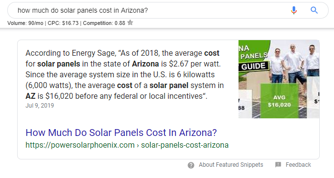 how much do solar panels cost in Arizona - Google Search